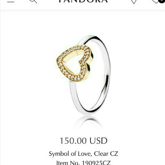 d7c623fe3 Pandora Jewelry   Sale Sale Two Toned 14k Heart Ring   Poshmark